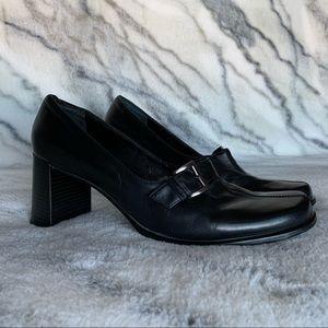 Franco Sarto Black Block Heel Pump 10M